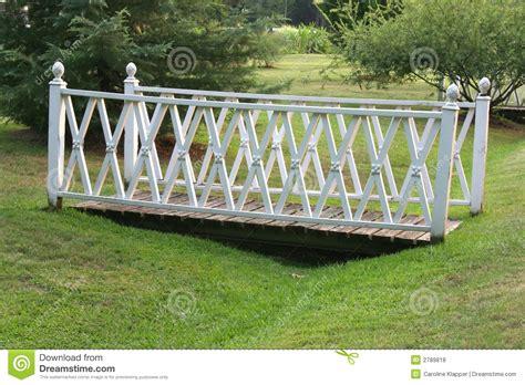 garden footbridge white garden footbridge royalty free stock photos image