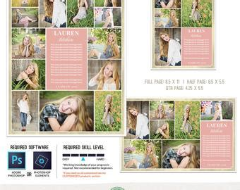 Senior Yearbook Ad Etsy 1 4 Page Yearbook Ad Template