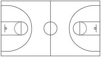 basket templates basketball field in the vector