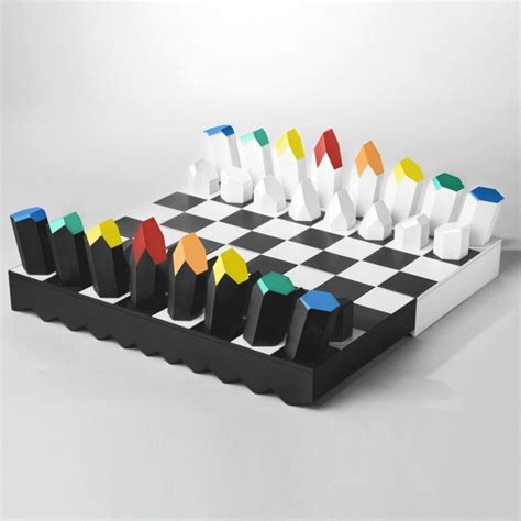classic black and white prisma set and board with colorful