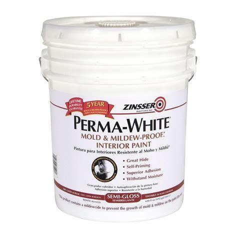 zinsser paint colors zinsser 5 gal perma white mold and mildew proof semi