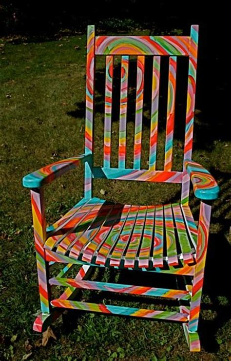 ideas for painting a rocking chair ideas for painted chairs psychedelic hippies