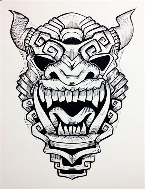aztec mask linocuts linoleogravuras m 225 scaras