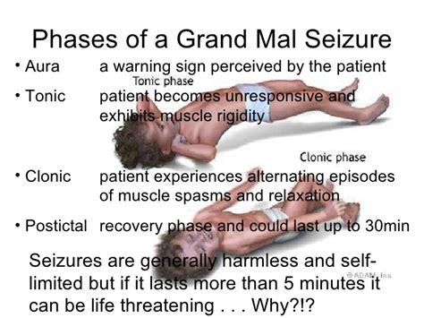 grand mal seizure management of threatening conditions