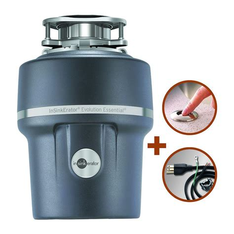 sink disposal home depot insinkerator evolution essential xtr 3 4 hp continuous