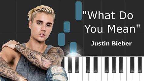 tutorial gitar what do you mean justin bieber quot what do you mean quot piano tutorial chords