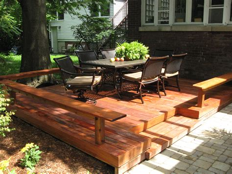 backyard deck prices deck vs patio what is best for you huffpost