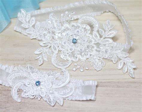 Wedding Garter Sets by Wedding Garter Something Blue Garter Set Lace Garter