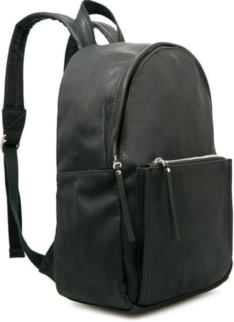 Original Mango Pebbled Backpack mango pebbled backpack in black for lyst