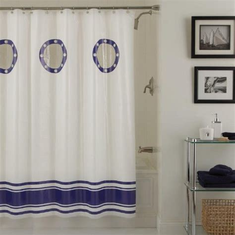 Nautical Kitchen Curtains Porthole Nautical Shower Curtain Whyrll