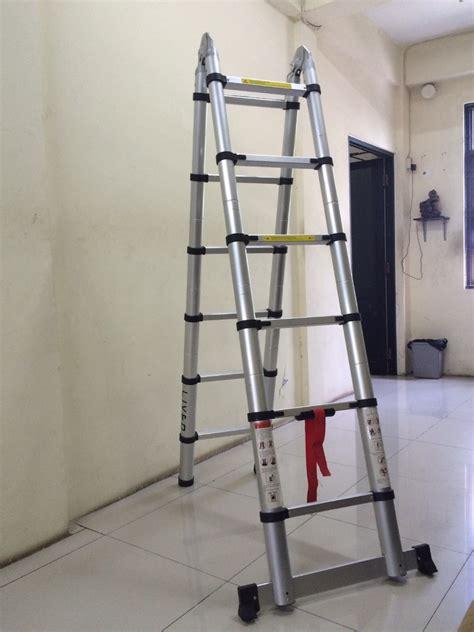 38 Meter Tangga Aluminium Teleskopik Telescopic Murah fortuna jaya tangga aluminium murah jual tangga fiberglass telescopic ladder tangga extension