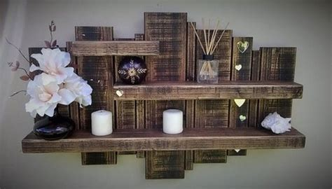 Its Easy To Create Wooden Pallet Shelves Pallet Wood Wood Pallet Shelves