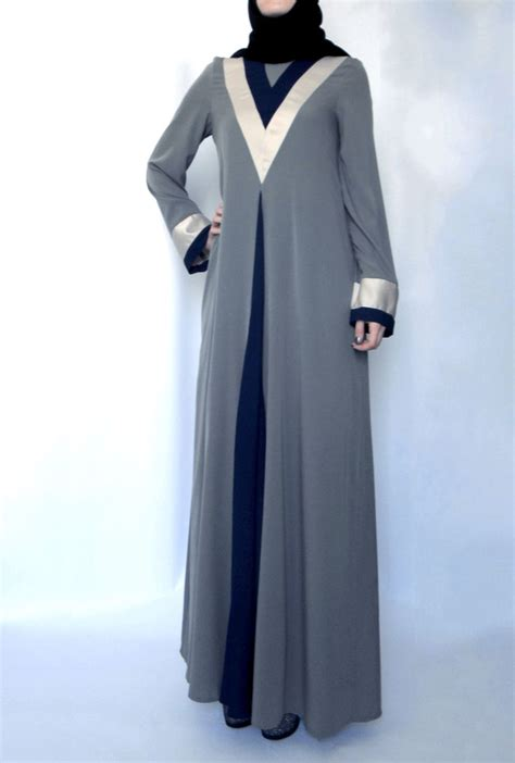 pattern dress muslimah tulip abaya grey lana lik modest clothing boutique