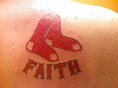 red sox tattoo sox boy