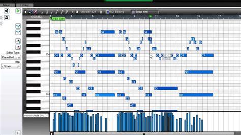Midi Mumer mixcraft midi editing with instruments