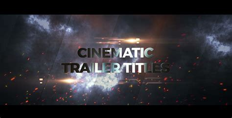Cinematic Blockbuster Titles Miscellaneous After Effects Templates F5 Design Com Cinematic Title After Effects Template