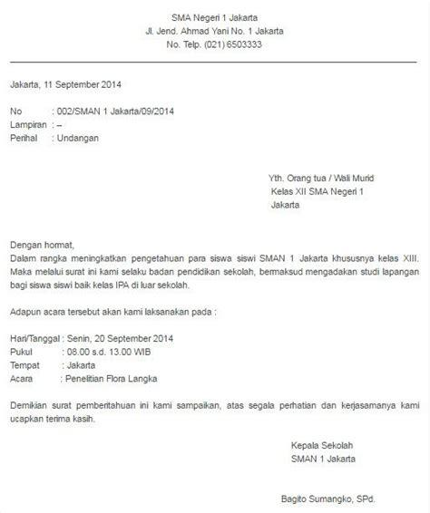 Contoh Surat Resmi Bentuk Semi Block Style Bertemuco