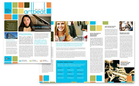 microsoft publisher templates newsletter arts council education newsletter template word