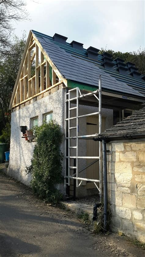 Garage Stroud by Converting A Flat Roof Garage To A Pitched Roof With