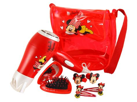 Minnie Mouse Hair Dryer new disney minnie mouse 1400w hair dryer sleepover kit with bag accessories ebay
