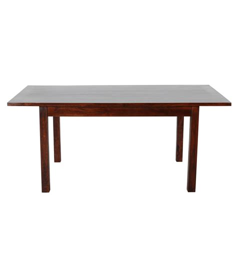 pepperfry dining table 6 seater olida mango wood six seater dining set by mudramark