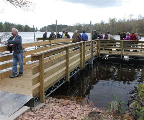 new handicap accessible fishing pier dedicated on big chip - Public Boat Launch Chippewa Flowage