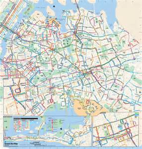 Bus Map New York by Queens New York Bus Map Queens New York Mappery