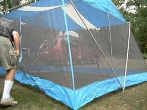 how to put up a screen tent in under a minute youtube