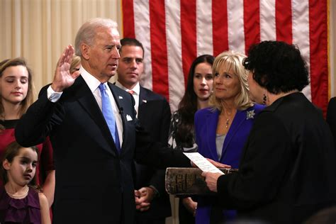 President Oath Of Office by Washington Obama Biden Being Sworn In For Second Term