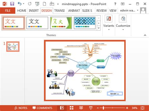 Doc Powerpoint Templates by Mind Map Template Powerpoint Free Briski Info