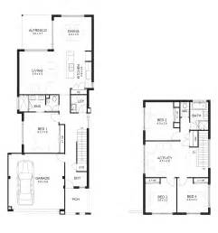 narrow house floor plan home plans narrow block