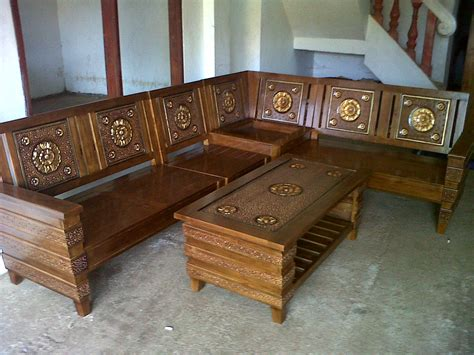 Kursi Sudut Kayu Akasia analia meubel furniture jepara