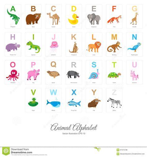 animal alphabet stock vector flat animal alphabet stock vector image 67575738