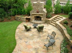 Big Backyard Design Ideas After A Beautiful Stone Patio And Fireplace Backed By