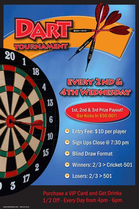 poster dart tournament on behance