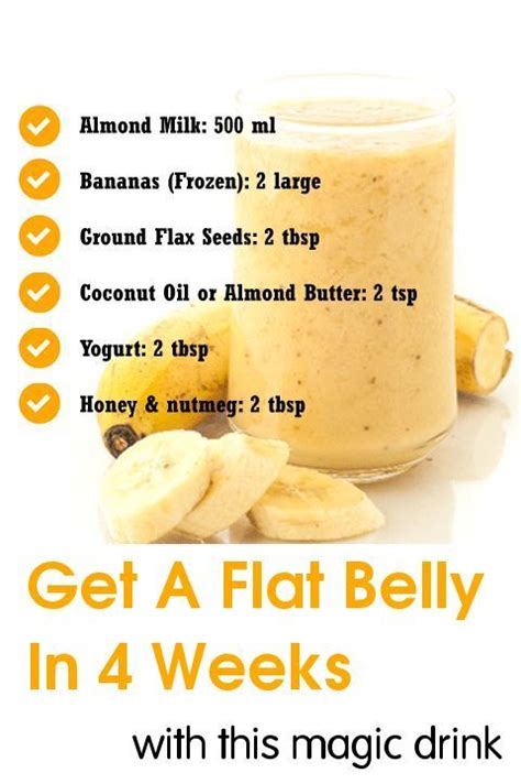 2 Week Flat Stomach Detox by Get A Flat Belly In 4 Weeks With This Magic Drink Detox