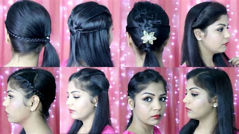 simple hairstyles at home in hindi 4 quick and easy hairstyles indian party heatless