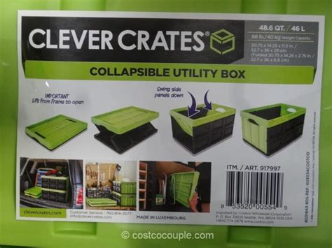 costco crate clever crates collapsible utility box