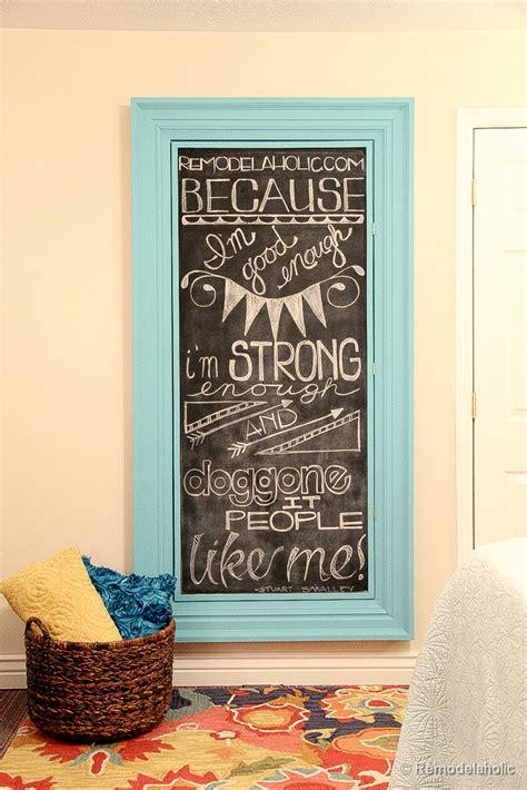 remodelaholic build  large wall frame   chalkboard