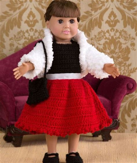 pattern for yarn doll party time doll outfit free crochet pattern from red heart