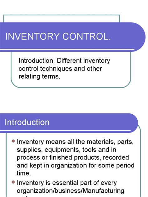 Tool Crib Meaning by Inventory
