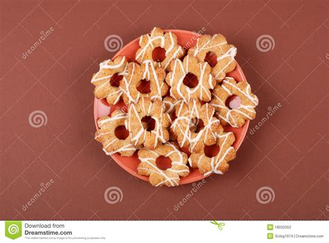Mr Pat Glaz Cookies cookies with glaze on a plate stock photography image 18032052