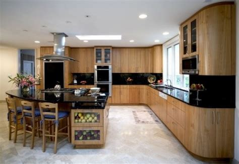 Kitchen Cabinets Light Birch Kitchen Cabinets With Dark Counter Tops And Light