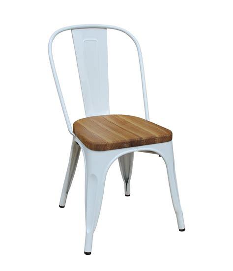 Chaises Soldées by Kit 4 Cadeiras Design Tolix Metal Assento Em Madeira