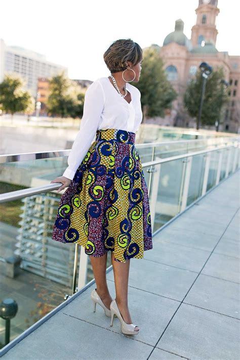 Ankara Tops In Dallas | diy box pleated ankara skirt african fashion ankara