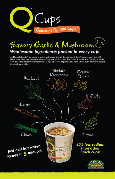 What's In a Savory Garlic & Mushroom Q Cup™? | NOW Foods Q Cup