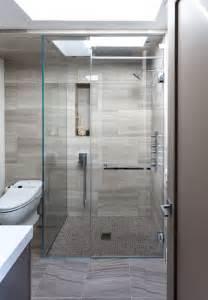 Modern Bathroom Glass Shower Tile Floor Bathroom Contemporary With Bathroom