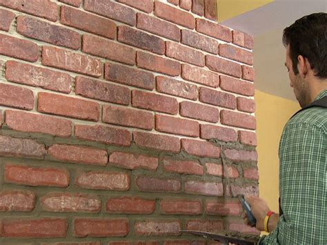 Interior Wall Brick Facing by How To Install Brick Veneer On A Wall How Tos Diy