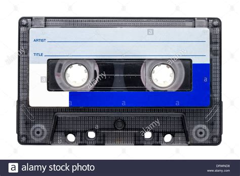 audio cassette magnetic cassette for audio recording isolated
