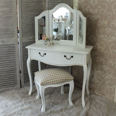 white dressing table dressing table mirror and stool bedroom furniture
